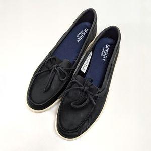 Sperry Top Siders size 10 in Dark Black Suede